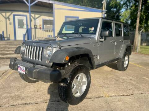 2016 Jeep Wrangler Unlimited for sale at USA Car Sales in Houston TX