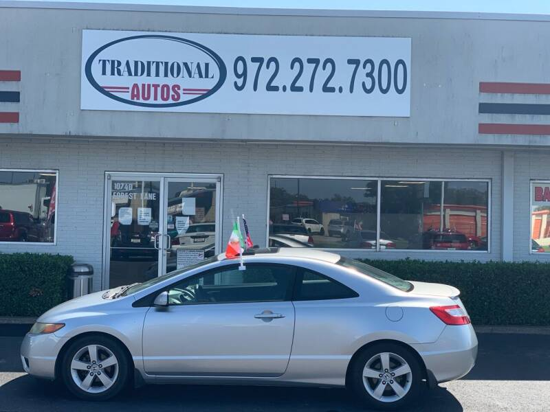 2006 Honda Civic for sale at Traditional Autos in Dallas TX