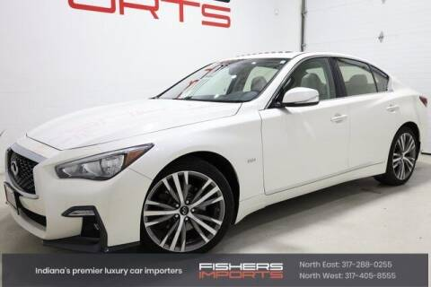 2018 Infiniti Q50 for sale at Fishers Imports in Fishers IN