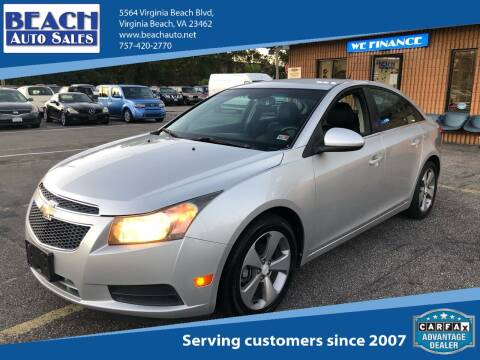 2011 Chevrolet Cruze for sale at Beach Auto Sales in Virginia Beach VA