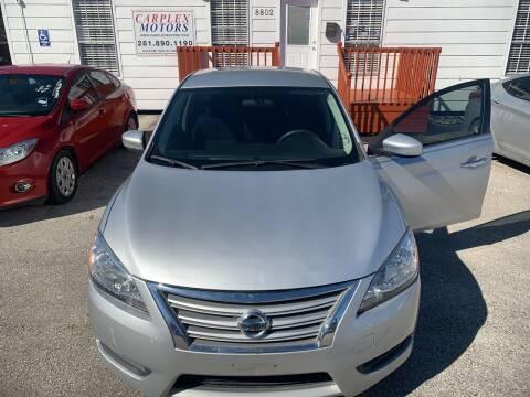 2014 Nissan Sentra for sale at CARPLEX MOTORS in Houston TX