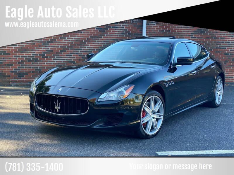 2014 Maserati Quattroporte for sale at Eagle Auto Sales LLC in Holbrook MA