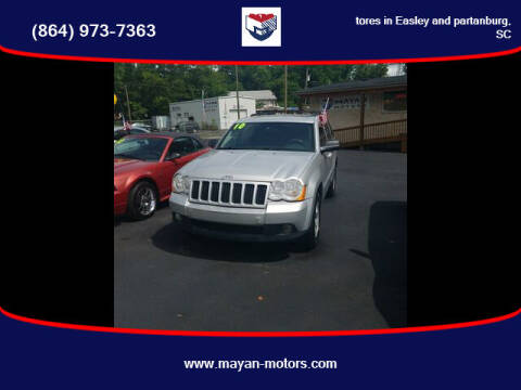 2010 Jeep Grand Cherokee for sale at Mayan Motors Easley in Easley SC