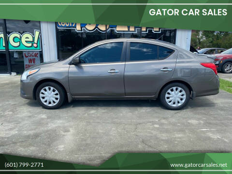 2015 Nissan Versa for sale at Gator Car Sales in Picayune MS