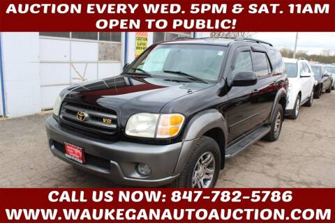 2003 Toyota Sequoia for sale at Waukegan Auto Auction in Waukegan IL