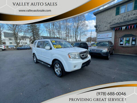 2010 Honda Pilot for sale at VALLEY AUTO SALES in Methuen MA