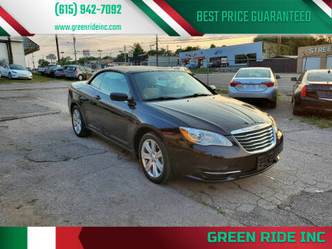 2013 Chrysler 200 Convertible for sale at Green Ride Inc in Nashville TN