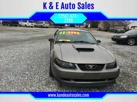 2002 Ford Mustang for sale at K & E Auto Sales in Ardmore AL