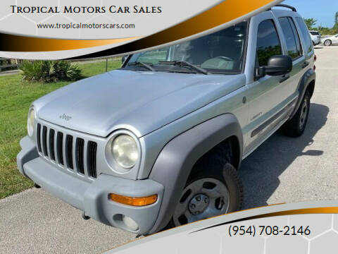 2004 Jeep Liberty for sale at Tropical Motors Car Sales in Deerfield Beach FL