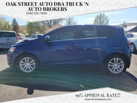 2013 Chevrolet Sonic for sale at Oak Street Auto DBA Truck 'N Auto Brokers in Pocatello ID