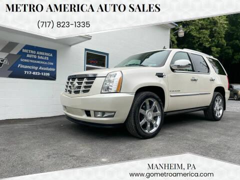 2008 Cadillac Escalade for sale at METRO AMERICA AUTO SALES of Manheim in Manheim PA