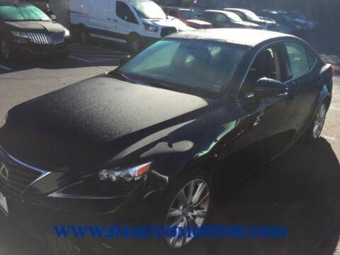 2015 Lexus IS 250 for sale at J & M Automotive in Naugatuck CT