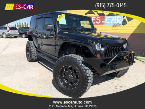 2011 Jeep Wrangler Unlimited for sale at Escar Auto - 9809 Montana Ave Lot in El Paso TX