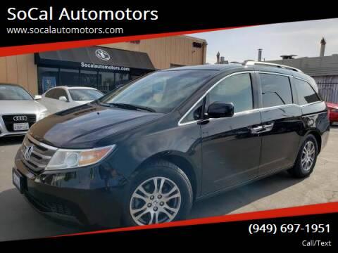 2012 Honda Odyssey for sale at SoCal Automotors in Costa Mesa CA