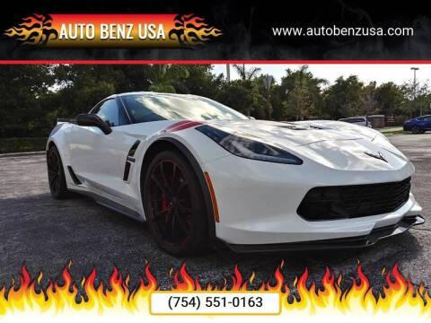 2017 Chevrolet Corvette for sale at AUTO BENZ USA in Fort Lauderdale FL