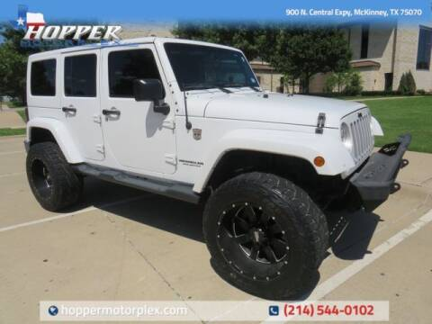 2016 Jeep Wrangler Unlimited for sale at HOPPER MOTORPLEX in Mckinney TX