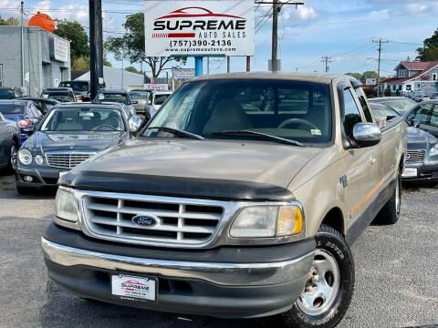 1999 Ford F-150 for sale at Supreme Auto Sales in Chesapeake VA