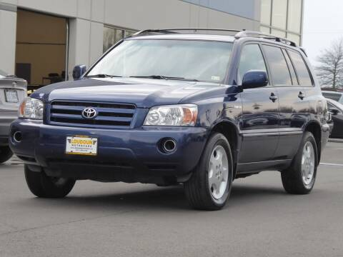 2005 Toyota Highlander for sale at Loudoun Used Cars - LOUDOUN MOTOR CARS in Chantilly VA