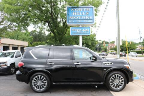 2015 Infiniti QX80 for sale at North Hills Motors in Raleigh NC