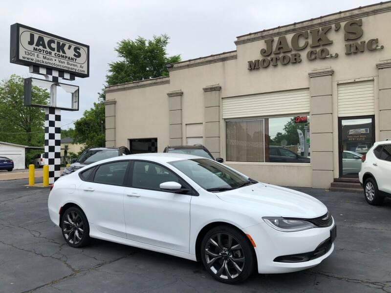 2016 Chrysler 200 for sale at JACK'S MOTOR COMPANY in Van Buren AR
