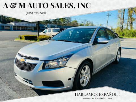 2014 Chevrolet Cruze for sale at A & M Auto Sales, Inc in Alabaster AL