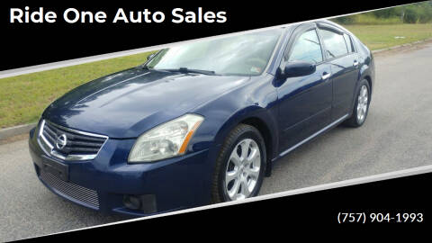 2008 Nissan Maxima for sale at Ride One Auto Sales in Norfolk VA