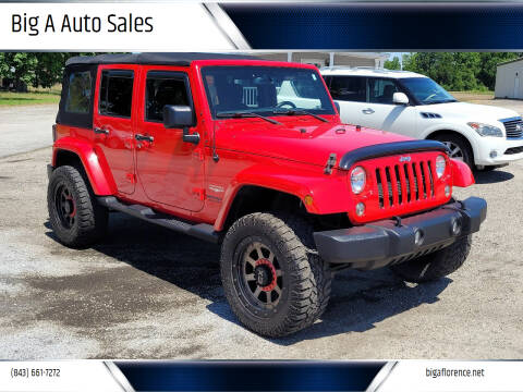 2015 Jeep Wrangler Unlimited for sale at Big A Auto Sales Lot 2 in Florence SC