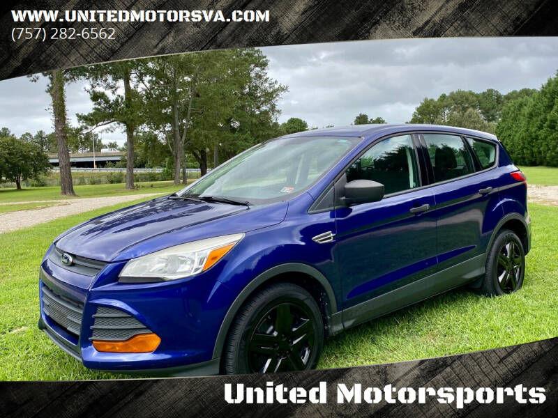 2013 Ford Escape for sale at United Motorsports in Virginia Beach VA