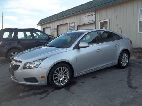 2012 Chevrolet Cruze for sale at Warner's Auto Body of Granville Inc in Granville NY