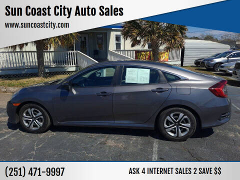 2018 Honda Civic for sale at Sun Coast City Auto Sales in Mobile AL