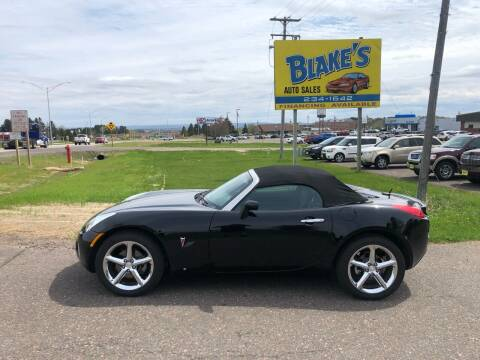 2008 Pontiac Solstice for sale at Blake's Auto Sales in Rice Lake WI
