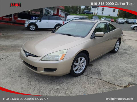 2003 Honda Accord for sale at CRAIGE MOTOR CO in Durham NC