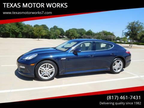 2010 Porsche Panamera for sale at TEXAS MOTOR WORKS in Arlington TX
