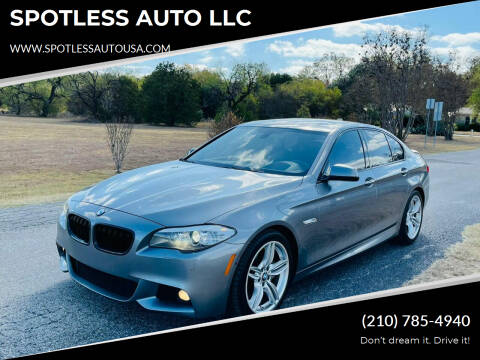 2013 BMW 5 Series for sale at SPOTLESS AUTO LLC in San Antonio TX