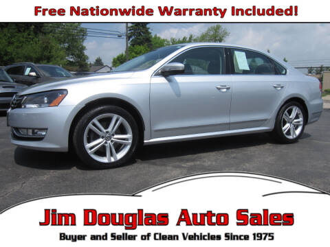 2014 Volkswagen Passat for sale at Jim Douglas Auto Sales in Pontiac MI