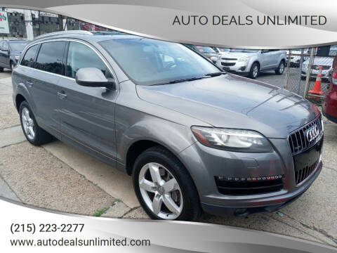 2012 Audi Q7 for sale at AUTO DEALS UNLIMITED in Philadelphia PA