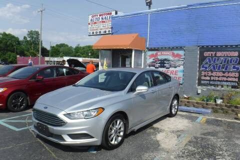 2017 Ford Fusion for sale at City Motors Auto Sale LLC in Redford MI