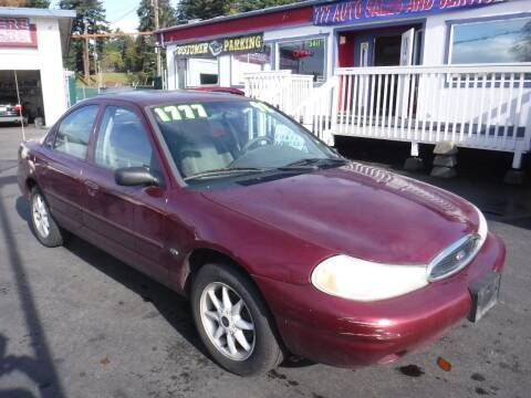1998 Ford Contour for sale at 777 Auto Sales and Service in Tacoma WA