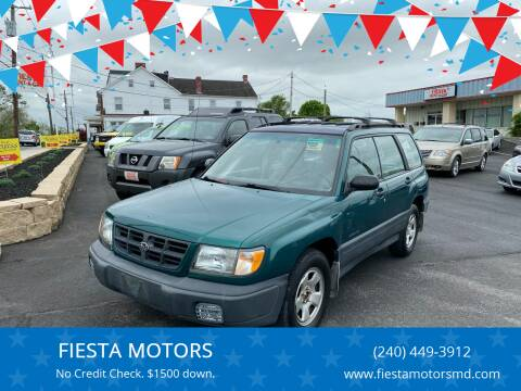2000 Subaru Forester for sale at FIESTA MOTORS in Hagerstown MD