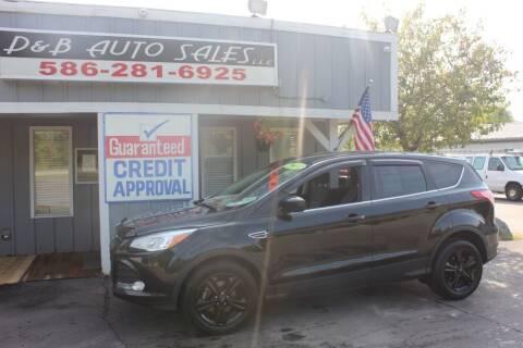 2014 Ford Escape for sale at D & B Auto Sales LLC in Washington MI