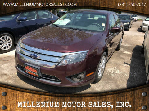 2012 Ford Fusion for sale at MILLENIUM MOTOR SALES, INC. in Rosenberg TX