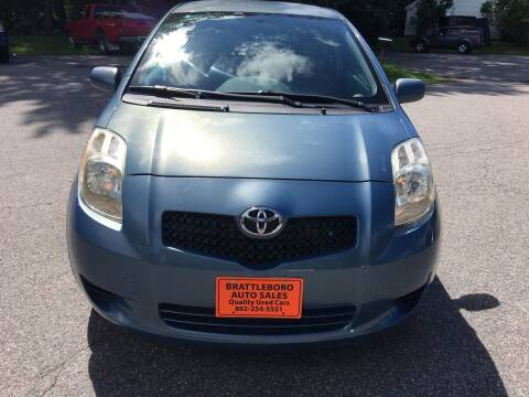 2008 Toyota Yaris for sale at BRATTLEBORO AUTO SALES in Brattleboro VT