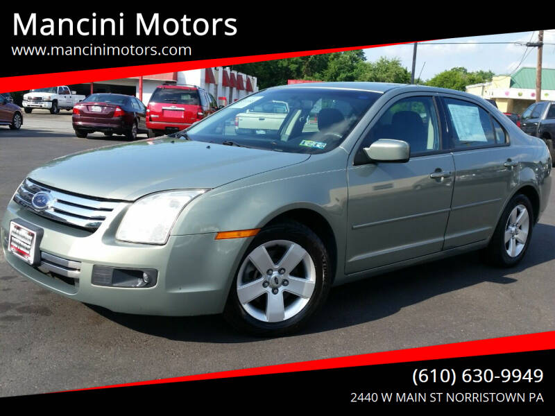 2009 Ford Fusion for sale at Mancini Motors in Norristown PA
