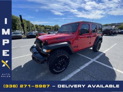 2021 Jeep Wrangler Unlimited for sale at Impex Auto Sales in Greensboro NC