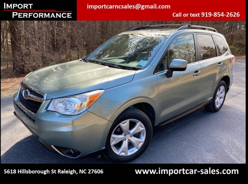 2014 Subaru Forester for sale at Import Performance Sales in Raleigh NC