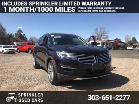 2015 Lincoln MKC for sale at Sprinkler Used Cars in Longmont CO