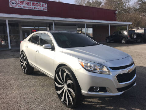 2016 Chevrolet Malibu Limited for sale at Certified Motors LLC in Mableton GA