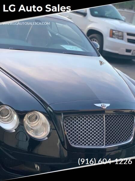 2005 Bentley Continental for sale at LG Auto Sales in Rancho Cordova CA