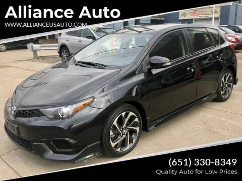2017 Toyota Corolla iM for sale at Alliance Auto in Newport MN