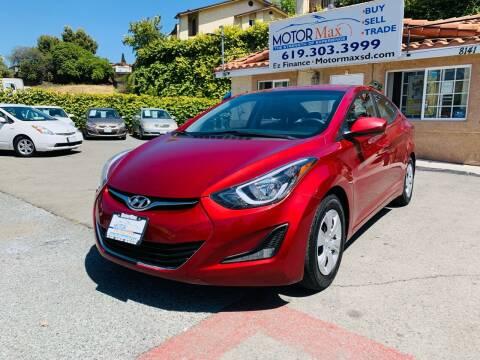 2016 Hyundai Elantra for sale at MotorMax in Lemon Grove CA